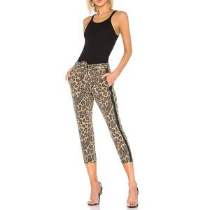 Pam & Gela Leopard Joggers with Sash P XS
